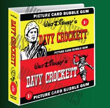 DAVY CROCKETT COLLECTORS BINDER for Trading Cards & Memorabilia