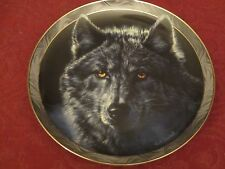 Wolf collector plate Vivi Crandall Mystic Spirit #1 Wolves Wildlife