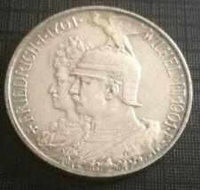 2 Mark Kaiserreich 1901 Doppelbüste, Silber, Orginal, ungereinigt, selten