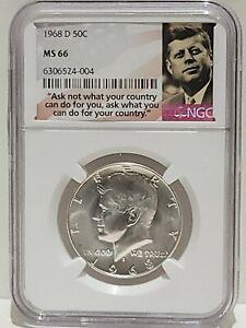 1968-D Kennedy Half Dollar NGC MS66