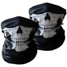 Motorcycle Half Face Skull Mask 2-Pack Riding Outdoors Cover Bandana Protect