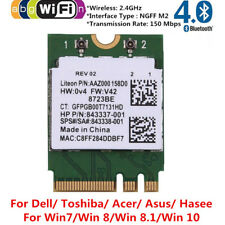 RTL8723BE NGFF/M.2 Wlan Wifi + Bluetooth 4.0 Card 802.11b/g/n for Dell Acer Asus