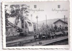 org. Foto Frankreich Belgien Eisenbahn Gleise Krahn