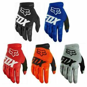 Racing MTB FOX Gloves Motocross Mountain Bike BMX Full Finger Cycling Riding UK