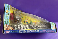 1972 Penn Plax Flowing Mill Stream O-47 W/ Mill Wheel In Box