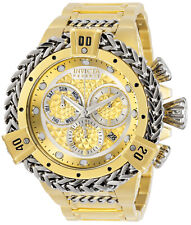 Invicta 30545 Reserve Hercules 53MM Gold Dial Automatic Gold Bracelet Watch NEW