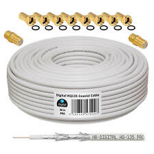 30m 135HQ SAT DIGITAL KOAX KABEL Antennenkabel Koaxialkabel 135 FULL HDTV 4K 5K