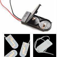2Pcs CR2032 6V Button Coin Cell Battery Holder Wire Case Box With On-Off Switch