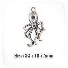 10 Tibetan Silver Antique Vintage Style Octopus Charms Pendant Steampunk 047s