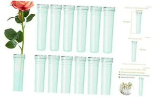 Floral Water Tubes 2.8 Inch Plastic Water Tubes for Floral Flower Vials 20pcs