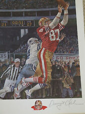 """DWIGHT CLARK SF 49ers signed """"THE CATCH"""" autographed lithograph MERV CORNING"""
