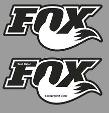 Fox Stickers Decals set 2 Graphics Fox Racing MTB DH Freeride Race Downhill Moto