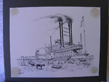 1974 RARE  ''STEAMBOAT NATCHEZ''  BY ARCHIE C. BOYD  ART PRINT
