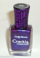 Sally Hansen Crackle Overcoat Nail Enamel Polish VINTAGE VIOLET 02