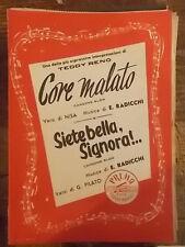 """SPARTITO RENO """"CORE MALATO"""" """"SIETE BELLA, SIGNORA!"""""""