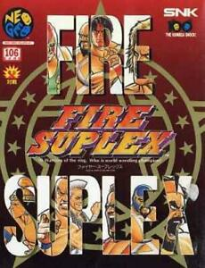 Neo Geo Aes Fire Suplex Snk Video Game NeoGeo Neo-Geo Japan Import Used good