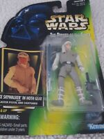 STAR WARS POWER OF THE FORCE LUKE SKYWALKER IN HOTH GEAR WITH BLASTER KENNER