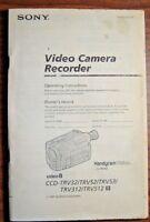 Sony Video Camera CCD-TRV32/TRV52/TRV531/TRV312/TRV512 Operating Instructions