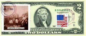 $2 DOLLARS 2009 STAR STAMP CANCEL LEGENDS SPIRIT 76 LUCKY MONEY VALUE $500