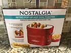 Nostalgia Retro Pop Up Cooker Bun Red Hotdog Grill Toaster Electric-BRAND NEW