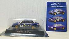 1/64 Kyosho SUBARU LEGACY RS RALLY #7 diecast car model