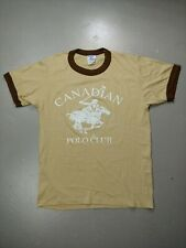 Canadian Polo Club Vintage T-shirt Size Medium 1970s Ringer
