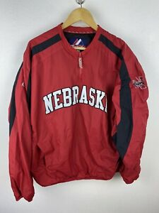 NCAA Nebraska Cornhuskers Football Mens Track Jumper Size XL 1/4 Zip Pullover