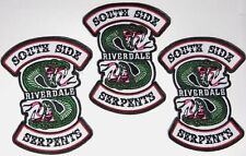 "Riverdale Southside Serpents 4.5"" Embroidered Iron-On Patch Set Of (3)Three"