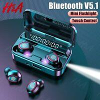 Bluetooth 5.1 Wireless Headphones with Mics Sport Waterproof TWS Bluetooth