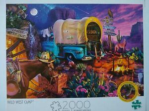 2000 Pcs Jigsaw Puzzle Buffalo Games  Wild West Camp- NEW!! 20 Hidden Objects