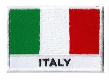 Ecusson patche patch coudre drapeau italien ITALIE 70 x 45 mm brodé