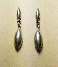 Sterling silver dangle drop post earrings