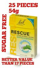 Bach Rescue Remedy Chewing Gum 25 Pieces  Spearmint Flavour Sugar Free 10 packs