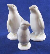 George Good White Penguin Family Mom Dad Baby Figurine RARE HTF