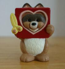 Vtg Hallmark Merry Miniatures Valentine Raccoon Cut Out Heart Card 1992 Figurine