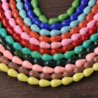 New Arrival 10pcs 16X10mm Faceted Teardrop Loose Spacer Glass Beads Mixed Color