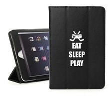 For iPad 2 3 4 5 Air Mini Pro Leather Smart Case Cover Stand Eat Sleep Hockey