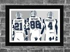 Dallas Cowboys Ezekiel Elliott Dez Bryant Dak Prescott Portrait Sports Print Art