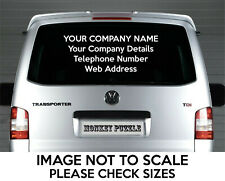 LARGE CUSTOM PERSONALISED BUSINESS VINYL DECAL CAR STICKER PROMOTIONAL  TEXT