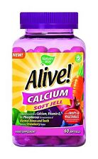 Nature's Way Alive! Calcium Soft Jells - 60 Gummies