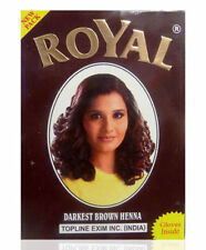Royal Henna Herbal Base Powder Hair Dye Chestnut 6x 10g