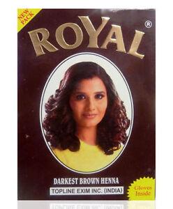 Royal Henna Mehndi Powder Hair Dye - 60g ( 6x 10g Sachets ) RED. BROWN DARKBROWN