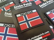 SNAKE PATCH - DRAPEAU NORVEGE - flag NORGE norwegian Norway SCRATCH 4.5cm x 6cm