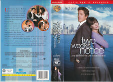 TWO WEEKS NOTICE (2003) VHS