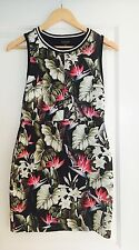 TOP SHOP WOMENS DRESS FLORAL PRINT STRETCHY WORK PARTY Evening Sz 10