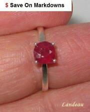 1.4 ct  Red Ruby Sterling Silver Ring