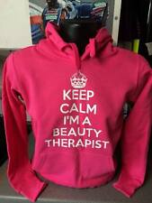 KEEP CALM IM A BEAUTY THERAPIST HOODIE PERSONALISED KEEP CALM HOODED TOP JUMPER