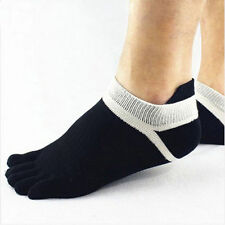 1 Pair Men's 5 Toe Socks Sports Five Finger Comfort Socks Breathable - Black