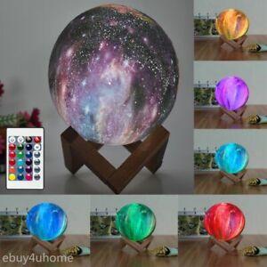 3D Magical Lunar Moon Lamp USB LED Night Light Touch Sensor Galaxy Sky Moonlight