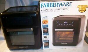 FARBERWARE 6 Qt. Oil-less Digital XL Rapid Air Fryer Oven Cook Bake Grill Toast
